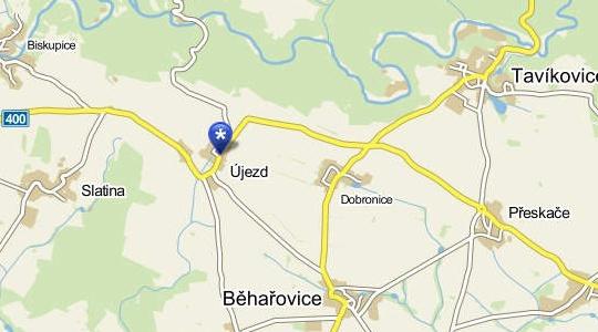Újezd - mapa